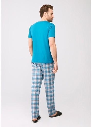Dagi Pijama Takım Turkuaz